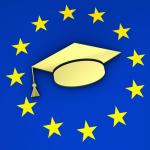 EU emblem with mortarboard